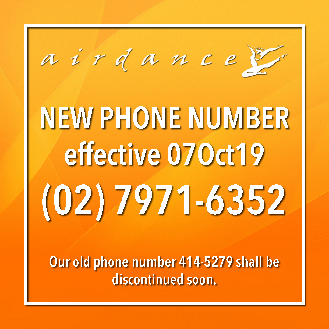 AIrdance New Phone Number effective 07Oct19